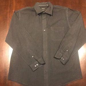 Men's VanHeusen black button down shirt